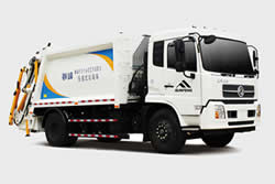 Rear Loading Garbage Compaction Truck