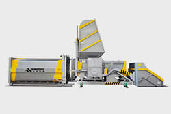 Horizontal Split Compactor Trash Transfer Station