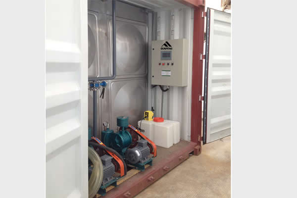 Containerized Sewage Treatment Plant, A+O & A2+O